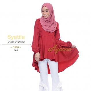 Syatila Plain Blouse 3570 (Red)
