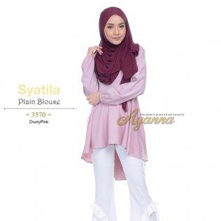 Syatila Plain Blouse 3570 (DustyPink)