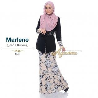Marlene Beads Kurung 3546 (Black)