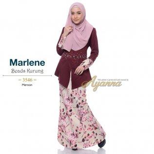Marlene Beads Kurung 3546 (Maroon)