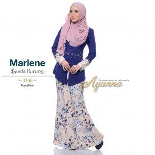 Marlene Beads Kurung 3546 (RoyalBlue)