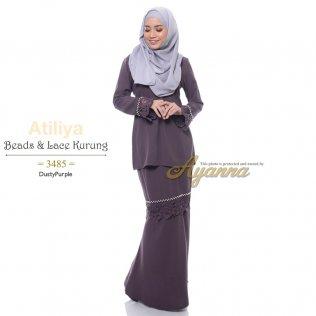 Atiliya Beads & Lace Kurung 3485 (DustyPurple)