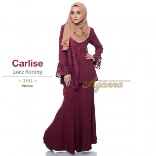 Carlise Lace Kurung 3541 (Maroon)