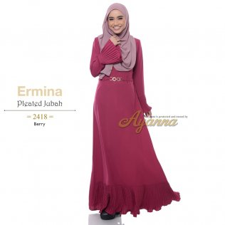 Ermina Pleated Jubah 2418 (Berry)