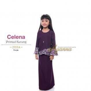 Celena Printed Kurung 2353A (Purple)