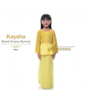 Kaysha Beads & Lace Kurung 2435 (Yellow)