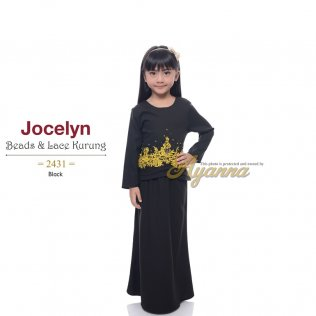 Jocelyn Beads & Lace Kurung 2431 (Black)