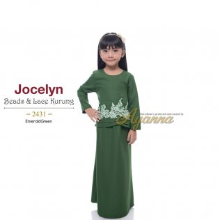 Jocelyn Beads & Lace Kurung 2431 (EmeraldGreen)