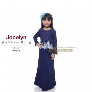 Jocelyn Beads & Lace Kurung 2431 (DarkBlue)