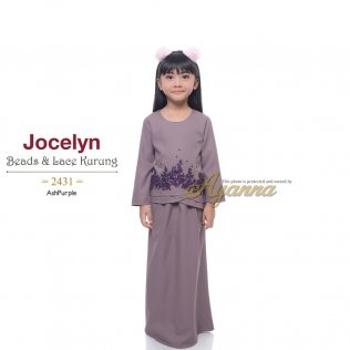 Jocelyn Beads & Lace Kurung 2431 (AshPurple)