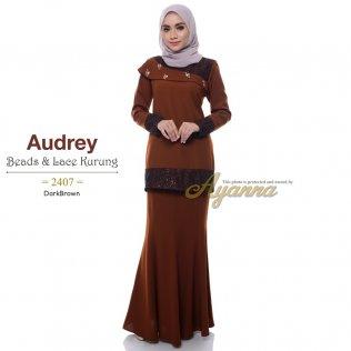 Audrey Beads & Lace Kurung 2407 (DarkBrown)