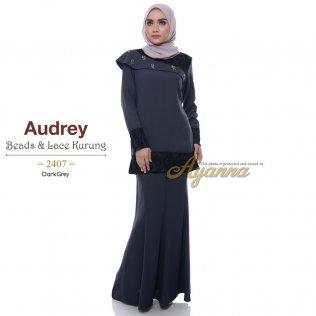 Audrey Beads & Lace Kurung 2407 (DarkGrey)