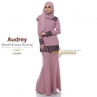 Audrey Beads & Lace Kurung 2407 (DustyPink)