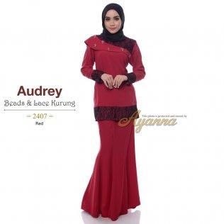 Audrey Beads & Lace Kurung 2407 (Red)