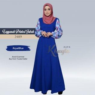 Layyanah Printed Jubah 2489 (RoyalBlue)