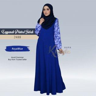 Layyanah Printed Jubah 2488 (RoyalBlue)