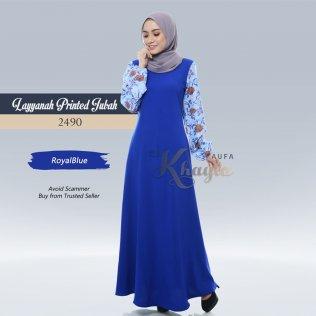 Layyanah Printed Jubah 2490 (RoyalBlue)