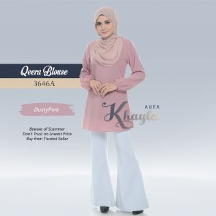 Qeera Plain Blouse 3646A (DustyPink)