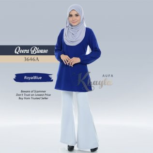 Qeera Plain Blouse 3646A (RoyalBlue)