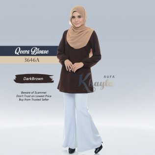 Qeera Plain Blouse 3646A (DarkBrown)