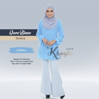 Qeera Plain Blouse 3646A (SoftBlue)
