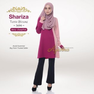 Shariza Tunic Blouse 3694 (Berry + DustyPink)
