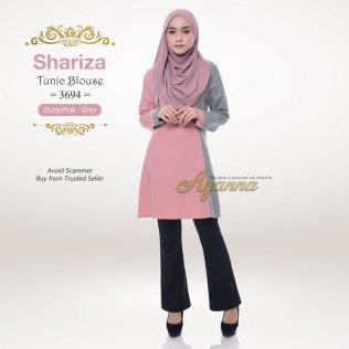 Shariza Tunic Blouse 3694 (DustyPink + Grey)