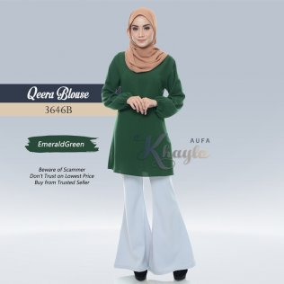 Qeera Blouse 3646B (EmeraldGreen)