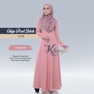 Aulya Pearl Jubah 2498 (DustyPink)