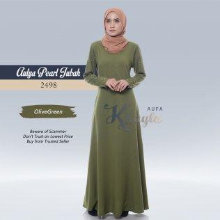 Aulya Pearl Jubah 2498 (OliveGreen)