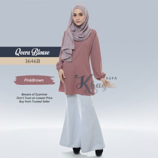 Qeera Blouse 3646B (PinkBrown)