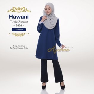 Hawani Tunic Blouse 3696 (DarkBlue)