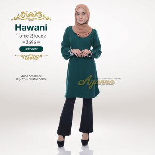 Hawani Tunic Blouse 3696 (Indicolite)