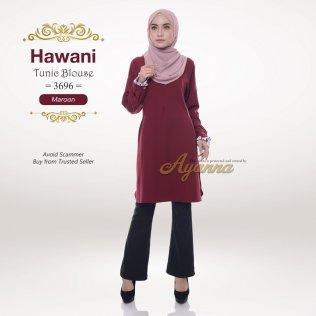 Hawani Tunic Blouse 3696 (Maroon)
