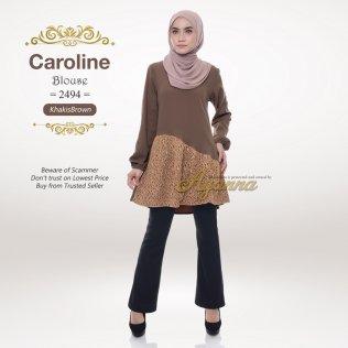 Caroline Blouse 2494 (KhakisBrown)