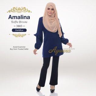 Amalina Ruffle Blouse 3803 (DarkBlue)
