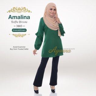 Amalina Ruffle Blouse 3803 (EmeraldGreen)