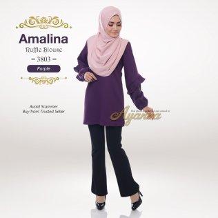 Amalina Ruffle Blouse 3803 (Purple)