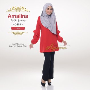 Amalina Ruffle Blouse 3803 (Red)
