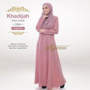 Khadijah Plain Jubah 2565 (DustyPink)