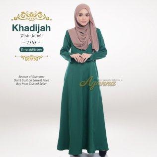 Khadijah Plain Jubah 2565 (EmeraldGreen)