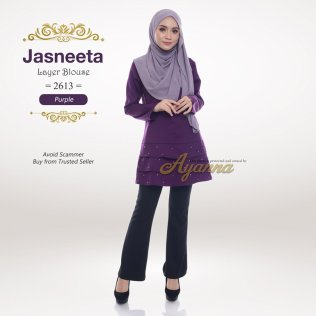 Jasneeta Layer Blouse 2613 (Purple)