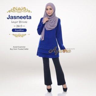 Jasneeta Layer Blouse 2613 (RoyalBlue)