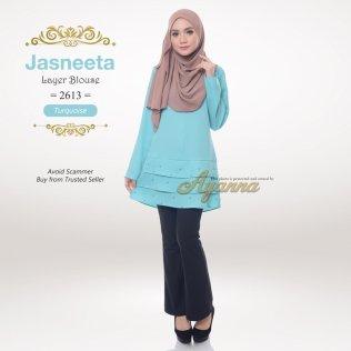 Jasneeta Layer Blouse 2613 (Turquoise)