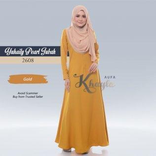 Yuhaily Pearl Jubah 2608 (Gold)