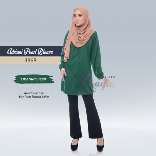 Adriani Pearl Blouse 3868 (EmeraldGreen)