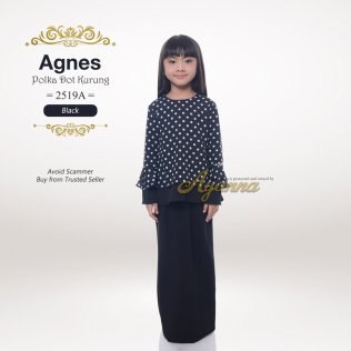 Agnes Polka Dot Kurung 2519A (Black)