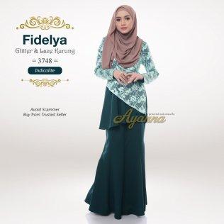 Fidelya Glitter & Lace Kurung 3748 (Indicolite)