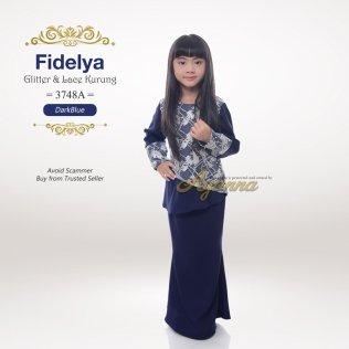 Fidelya Glitter & Lace Kurung 3748A (DarkBlue)
