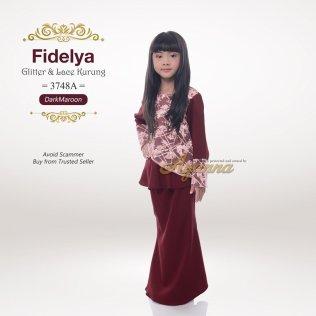 Fidelya Glitter & Lace Kurung 3748A (DarkMaroon)